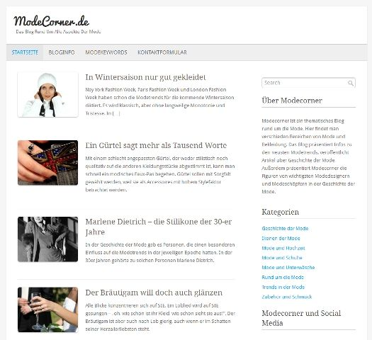 Fashion-/Modeblog Modecorner.de